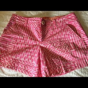 Lilly Pulitzer Pink White Print Shorts Size 6